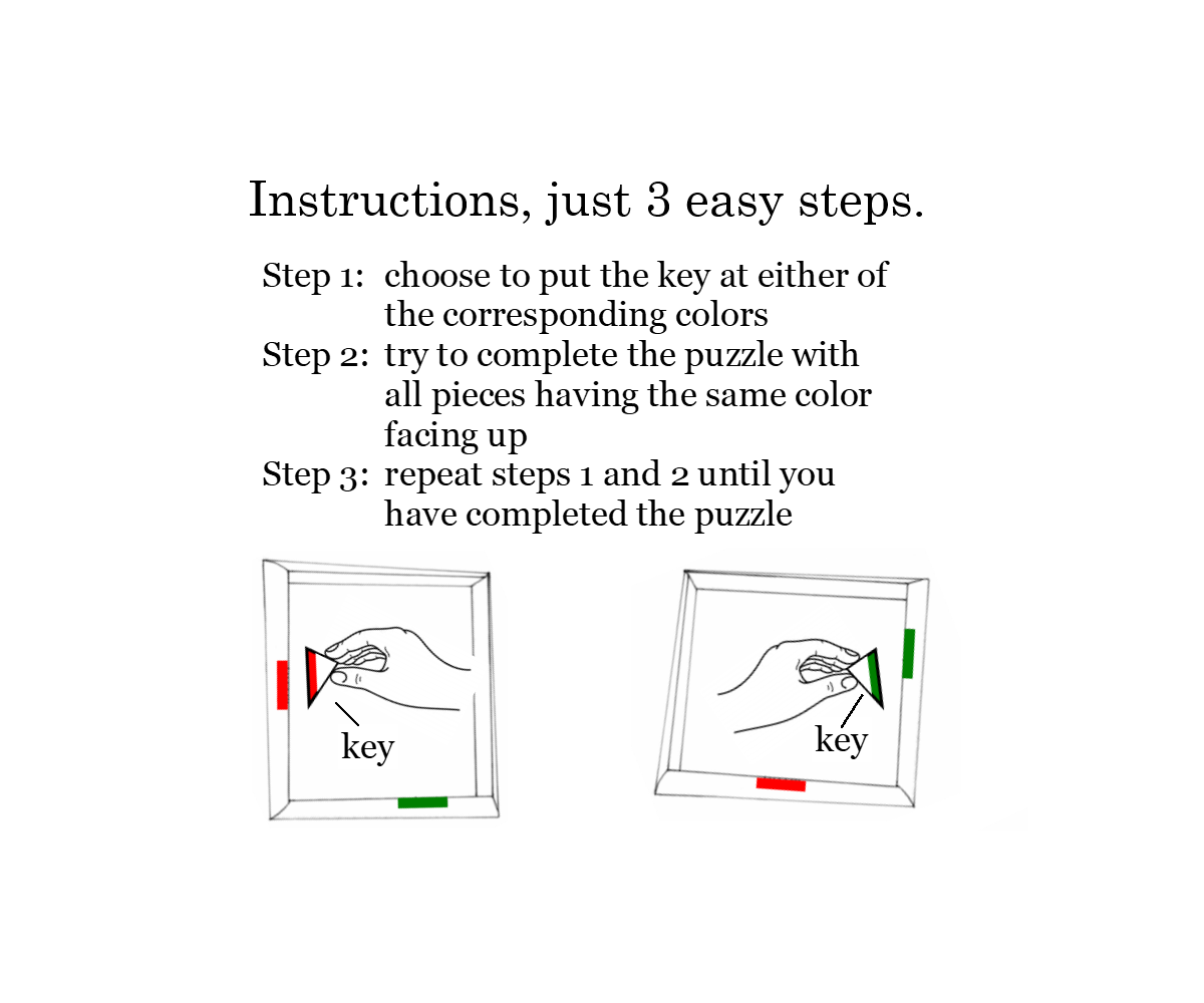 Instructions landing page
